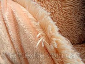 """Одеяло с длинным ворсом """"Мишка"""" персиковое (210х230), фото 2"""