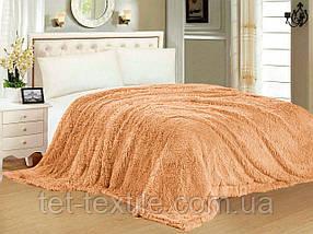 """Одеяло с длинным ворсом """"Мишка"""" персиковое (210х230)"""