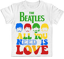 Детская футболка The Beatles All You Need Is Love белая