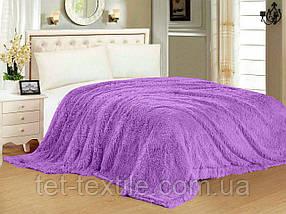 """Одеяло с длинным ворсом """"Мишка"""" сиреневое (210х230)"""