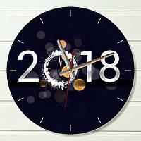 """Настенные часы  - """"2018"""" (на пластике)"""