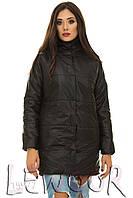 Модная куртка с воротником стойка на кнопках