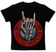 Детская футболка Young Rocker черная