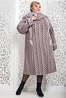 Зимнее женское теплое пальто очень большого размера 60 85b47134ba9c7