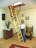 Складная чердачная лестница деревянная