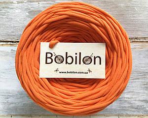 Трикотажная пряжа Bobilon Medium (7-9мм). Оранжевый апельсин 50м.