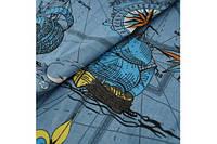 Джинсовая ткань корабли ( рубашечная )