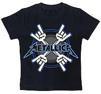 Детская футболка Metallica (metal horns) черная