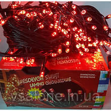 Новорічна світлодіодна гірлянда 200 LED червоний