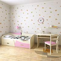 Диван-кровать Бони Радуга (140*70) Ваниль-сакура розовая