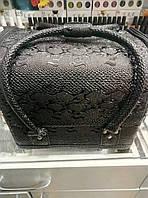 Чемодан текстурный черный