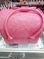 Чемодан текстурный розовый