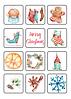 Рождественский набор из 36 наклеек от Наталии Павлюк
