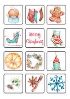 Рождественский набор из 36 наклеек от Наталии Павлюк, фото 1