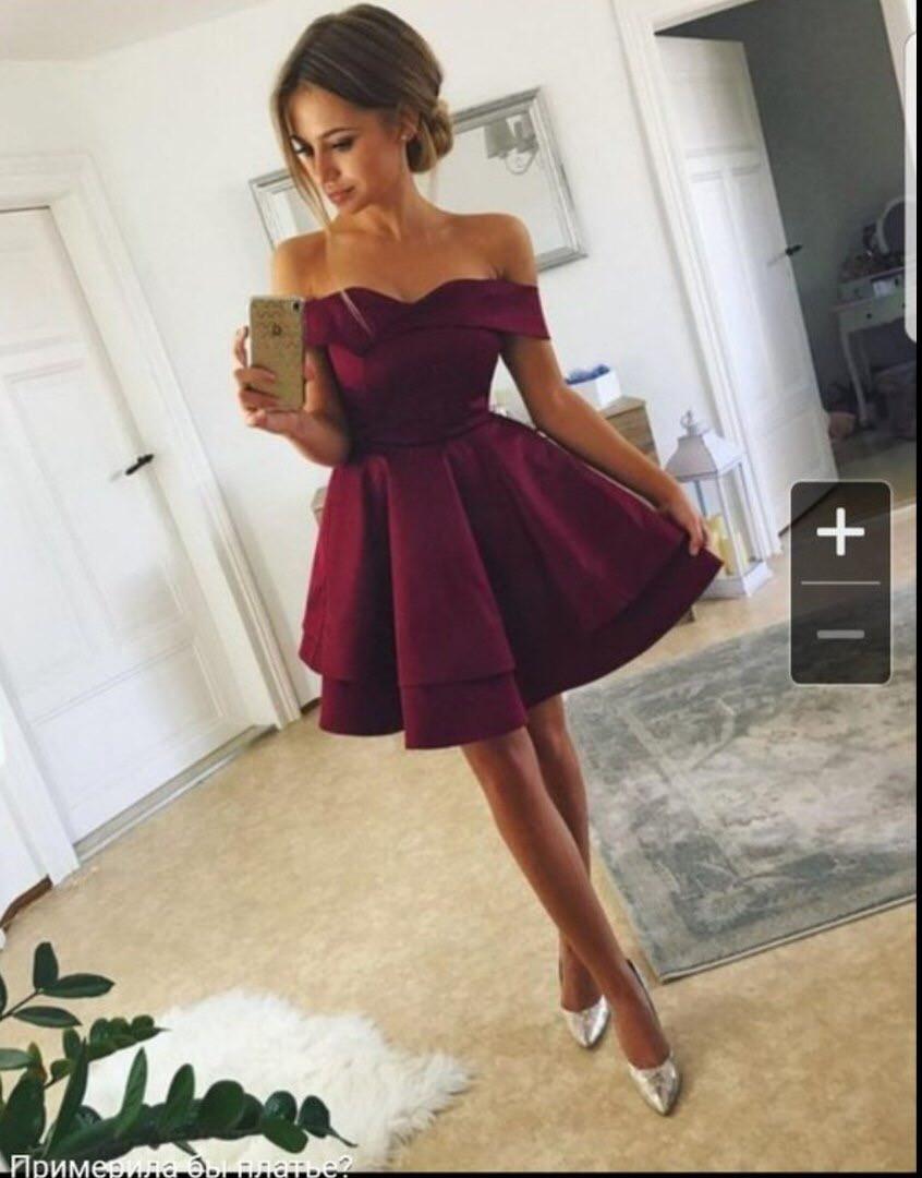 Платье нарядное  вечернее  пышное марсала