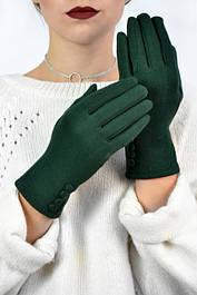 Женские трикотажные перчатки Баноффи зеленые
