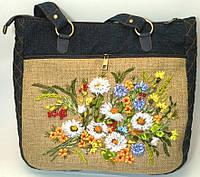 Женская сумка саквояж Ромашки, фото 1