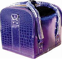 Кейс Крокодил фиолетовый глянец