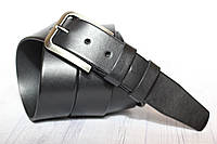Черный кожаный ремень
