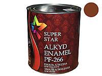 Емаль ПФ266 0,9кг 85 жовтокоричнева ТМSUPER STAR