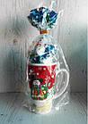 """Новорічний солодкий подарунок з кухлем """"Сніговик"""", Польща, фото 2"""