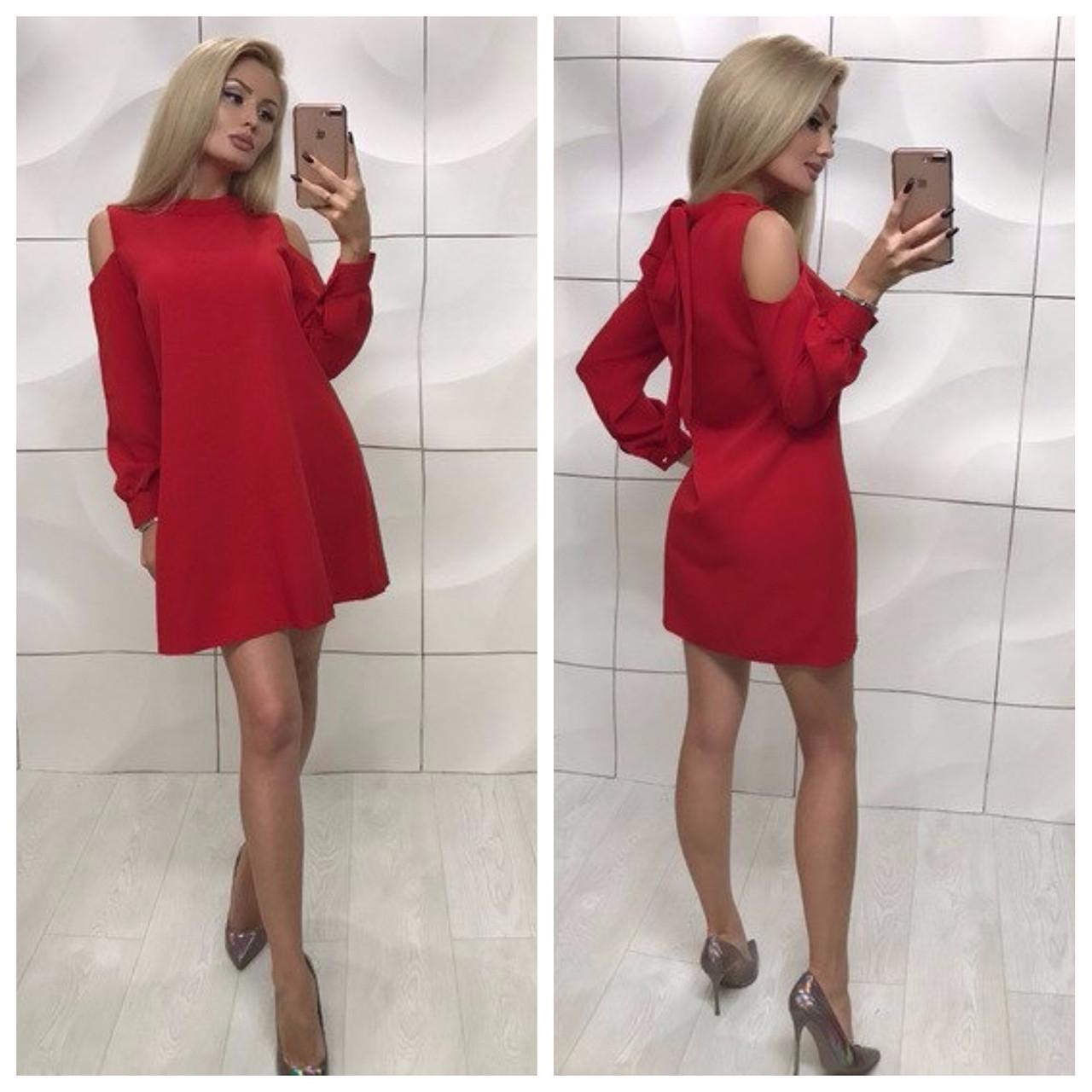 Платье красное короткое