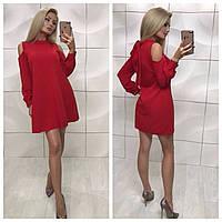 Платье красное короткое, фото 1