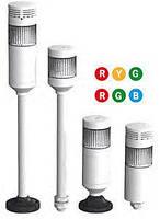 Трехцветная светодиодная сигнальная колонна диаметром 56 мм PTM