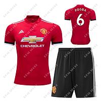 Детская футбольная форма ФК Манчестер Юнайтед 2017-2018, Погба №6. Основная форма