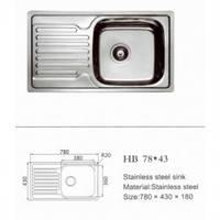 Мойка кухонная HAIBA 780х430х180 (Decor)