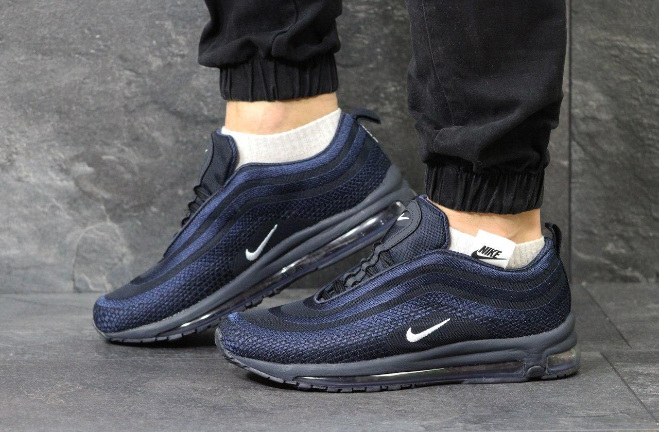 3f707f4e Мужские кроссовки Nike Air Max 97, темно-синие (Реплика): продажа ...