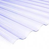 Прозрачный ПВХ лист Salux Strong  76/18 1,2*0,80, прозрачная волна