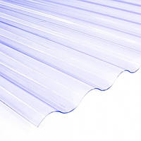 Прозрачный ПВХ лист Salux Strong  76/18 1,2*0,80, прозрачная волна, фото 1