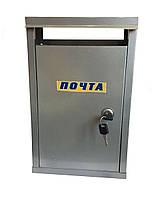 Почтовый ящик №1 с замком (серый)