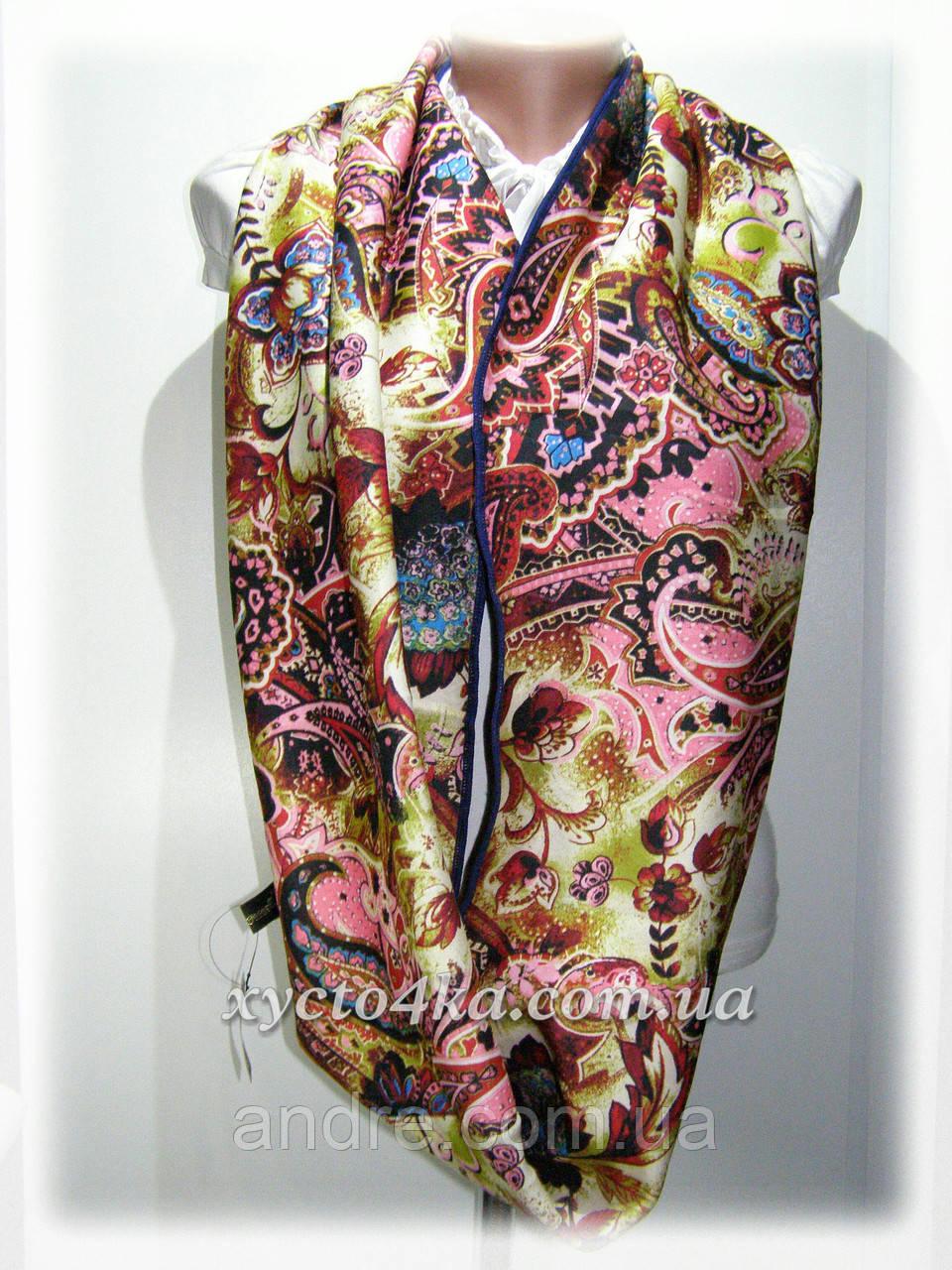 Тёплый шарф снуд на флисе, розовый