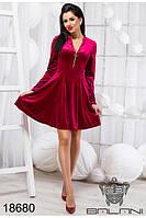 Коктельное  женское платье из бархата  (42-44-46) , доставка по Украине