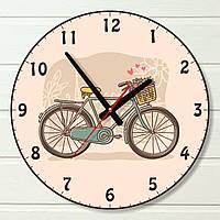 """Настенные часы  - """"Велосипед,винтаж"""" (на пластике)"""