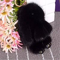 Брелок Кролик или Зайка из НОРКОВОГО натурального меха 15 см