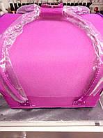 Чемодан ярко розовый матовый