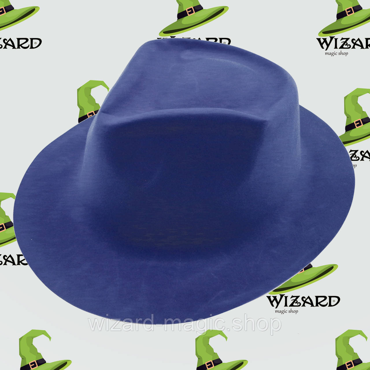 Шляпа Мужская флок синяя