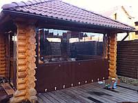 Шторы пвх для беседок, шторы мягкие прозрачные Киев от 490 грн, фото 1