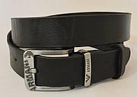 Кожаный мужской ремень ARMANI-черный
