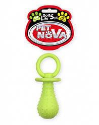 Игрушка для собак Соска с колокольчиком PetNova 14 см желтый
