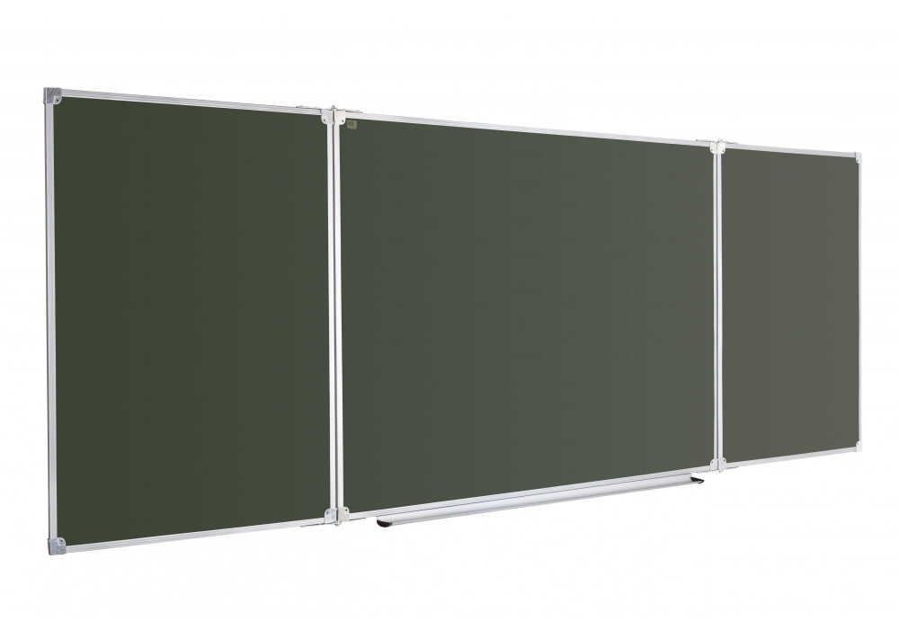 Доска для мела ABC Office 300 x 100 см, в рамке X-line, трехсекционная