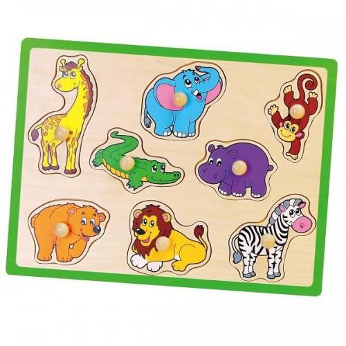 Пазл-вкладыш Дикие животные Viga Toys (50019)