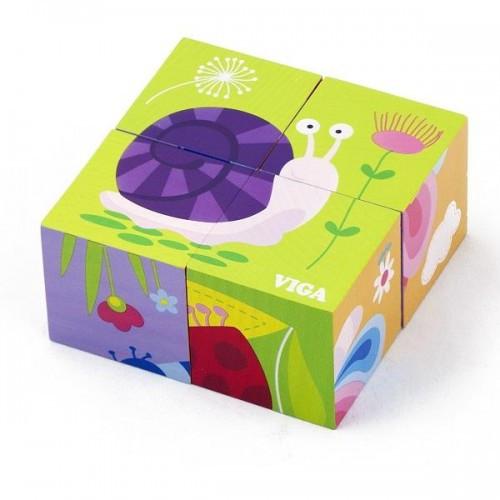 Пазл-кубики Насекомые Viga Toys (50160)