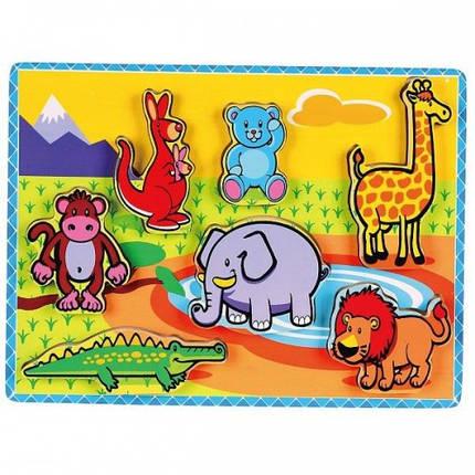 Рамка-вкладыш Животные Viga Toys (56435), фото 2