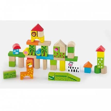 Зоопарк, набор строительных блоков Viga Toys 50 шт. (50286), фото 2