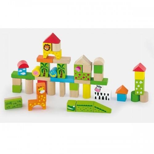 Зоопарк, набор строительных блоков Viga Toys 50 шт. (50286)