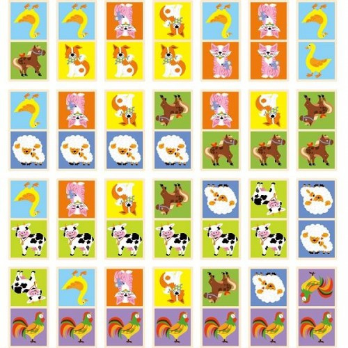 Домино Ферма настольная игра Viga Toys (51306)